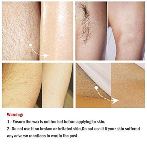 BESTOMZ Sólido grano depilatorio Pearl Wax Beans Hair Remover Hard Wax Beans Flavor (Rosy)