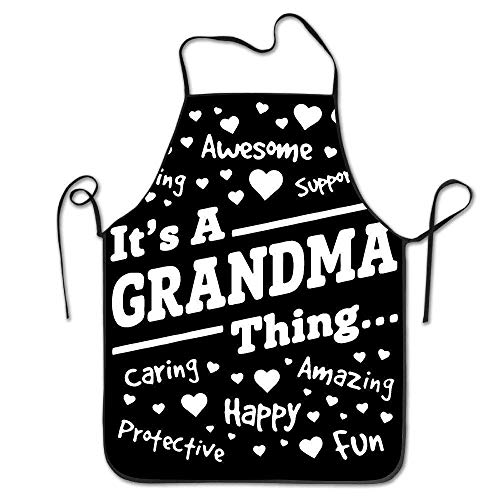 HTETRERW It's A Grandma Thing Awesome Happy Amazing Apron for Baking Crafting Gardening Cooking Durable Easy Cleaning Creative Bib for Man and Woman Standar Size (Awesome Kostüm Für Hunde)
