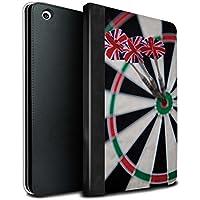 STUFF4 PU Leather Book/Cover Case for Apple iPad Mini 1/2/3 tablets / Triple Bullseye Design / Darts Photo Collection