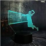 Sport Spielen Volleyball Neuheit 3D Led Usb Nachtlicht 7 Farbwechsel Lampe Wohnkultur Kind Junge Weihnachtsgeschenk Lava