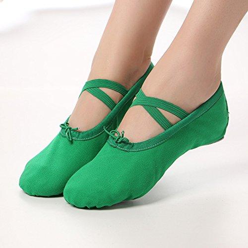 Wuyulunbi@ verde fondo morbido Kungfu scarpe scarpe scarpe da ballo,trentatré Trentasei