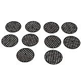 Sharplace Kunststoff-Drainage Mesh-Blatt Bonsai Blumentopf Bodennetz Bug Schädlingsbekämpfung - Durchmesser 4,5 cm # 10 Stück