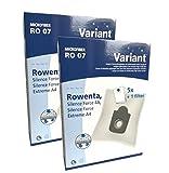 10 Staubsaugerbeutel Variant RO07, kompatibel mit...