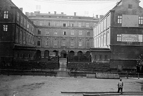 POSTER A3 Sweden Stockholm, Södermanland, Southern Town Hall Ryssgården place southern part Stockholm city. building, created 1660s Nicodemus