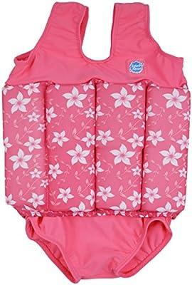 Splash About FSPB2 -  Traje de natación para niños, color rosa con diseno de flores, 2-4 años