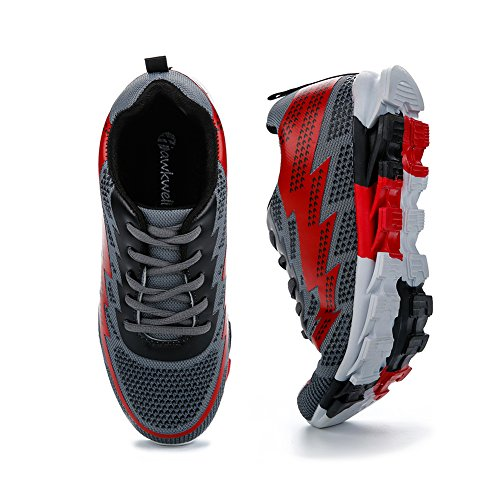 Hawkwell Homme Casual Respirant Chaussures de running à lacets pour de course léger Gris