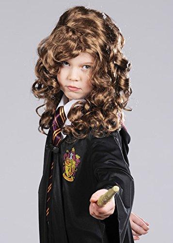 Kinder Hermine Granger Style braun lockig Perücke