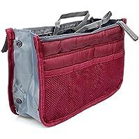 Sungpunet portatile multi-funzione borsa della borsa inserto organizzatore Tidy Travel Cosmetic Pocket (vino rosso)