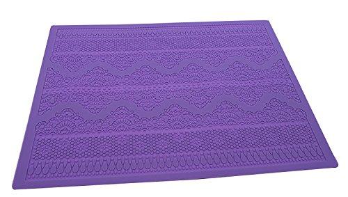 Ainxin - Tapete de silicona con diseño de encaje, 38,3 x 28,4 cm, molde con volutas y vides para decoración de pasteles, herramienta de decoración para grabados en fondant y envolturas de azúcar