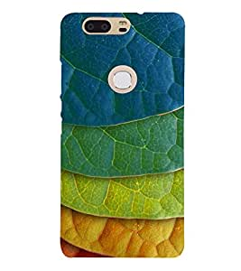 Fuson Designer Back Case Cover for Huawei Honor V8 (Leaves Foliage Colourful Red Blue)