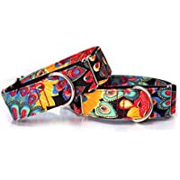 Collar de perro de ajustable de impresión de leopardo hasta noche de seguridad collar para perros de mascotas