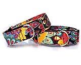 Handgefertigt Personalisierte Stoff Super Stark Langlebig Reef Hundehalsband Martingale Hundehalsband für Große Hunde
