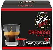 Caffè Vergnano 1882 Capsule Caffè Compatibili Nescafé Dolce Gusto, Cremoso - 6 confezioni da 12 capsule (total