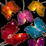 BLAZE ON Luci incantate fatate., Rainbow Butterflies, 20 Lamps - 5 Metre Long