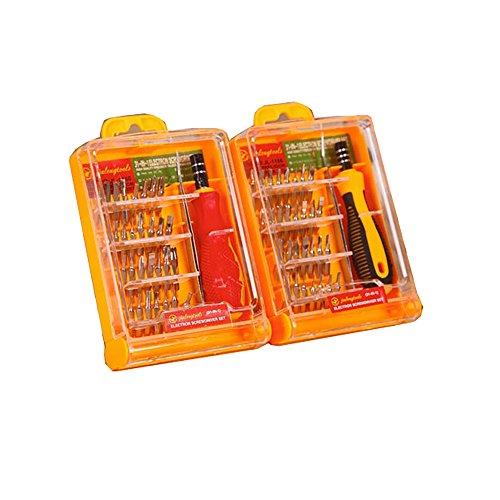 32PCS Jewellers Precision Schraubendreher Set Laptop Reparatur Schraubendreher w/Aufbewahrungskoffer Brillen und Uhr Reparatur (verschiedene Farben)