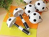 ANKKO 2pcs Bolígrafos de bola retráctiles creativo Llavero fútbol