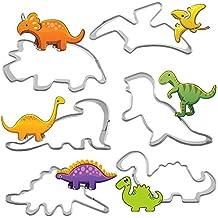 Hosaire 6X Molde de Galletas Estilo Dinosaurio,Juego de Cortadores de Galletas Moldes para Galletas