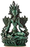 BUDDHAFIGUREN/Billy Held Diseño de Buda de Figuras de - el Verde de Tara 15 cm de Poliuretano de Colour Turquesa de Buda Estatua de Buda de la decoración Tibetano Bodhisattva Hecho a Mano en Nepal