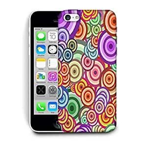 Snoogg Abstract Colorful Bubbles Designer Protective Back Case Cover For IPHONE 5C