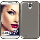 mtb more energy® Schutz-Hülle Clear & Slim für Samsung Galaxy S4 (GT-I9500… , 5.0'')   transp.-schwarz   flexibel   TPU Silikon Case Cover Tasche