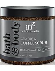 ArtNaturals Meersalz Kaffee Peeling Scrub - Arabica Coffee Scrub - Pflegendes Körperpeeling und Gesichtspeeling - 249g