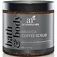 Art Naturals ANME-0801-VE, ArtNaturals Kaffee Peeling Scrub - Exfoliator - (8.8 Oz/250ml) - Arabica Coffee Scrub mit Meersalz - Pflegendes Körperpeeling und Gesichtspeeling (Körperpflege)