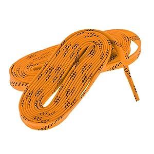 perfk Nylon Schnürsenkel Flachsenkel Flache Schuhbänder für Eishockey Schlittschuhe, Rollschuhe, Inline Hockey Skates, Sportschuhe, Stiefel