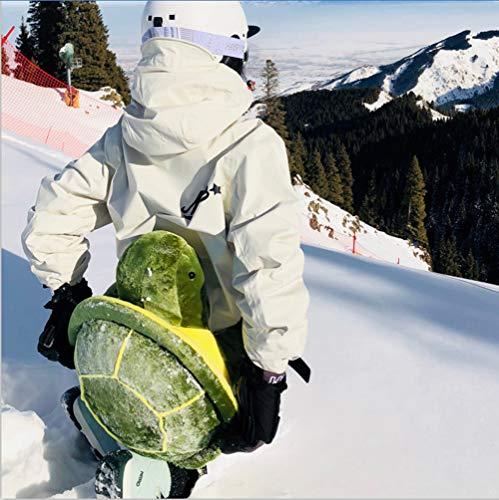 Knieschützer Snowboard, Skifahren, 1 Paar Schildkröte Knieschoner - Hintern Protektor fuer Damen & Herren - Knieschutz Kniegelenk - Kniebandage gepolstert - Neues Design