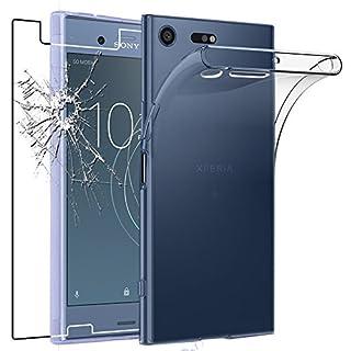 ebestStar - Sony Xperia XZ1 Compact Hülle Handyhülle [Ultra Dünn], Durchsichtige Klar Flex Silikon Schutzhülle, Transparent + Panzerglas Schutzfolie [Phone: 129 x 64 x 9.3mm, 4.6'']