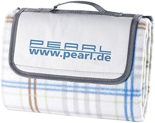 PEARL Campingdecke: Fleece-Picknick-Decke mit wasserabweisender Unterseite, 140 x 100 cm (wasserdichte Picknickdecken)