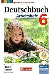 Deutschbuch Gymnasium - Niedersachsen: 6. Schuljahr - Arbeitsheft mit Lösungen und Übungs-CD-ROM