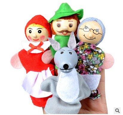 Newin Star 4Rotkäppchen Fingerpuppen Geschenke Baby Lernspielzeug