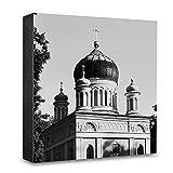 COGNOSCO - Foto-Holzblock groß - 20x20cm - Wandbild mit Architektur-Fotografie Potsdam - Russische Kapelle