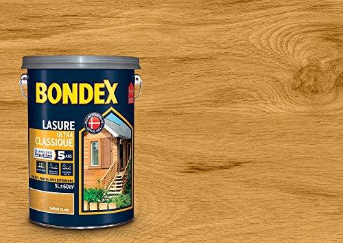 Bondex 364193Lasur Klassische 5Jahre, Eiche hell Satin, 5l
