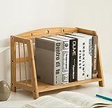 ZMSJ-YJ Tisch Bücherregal Lagerregale Einfache Tabelle auf Dem Tisch Student Multifunktions-Bambus Bücherregal Bücherregal (Größe : 53 * 22 * 28cm)