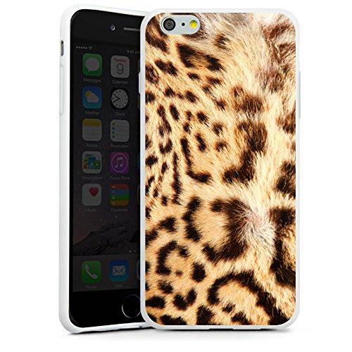 Apple iPhone X Silikon Hülle Case Schutzhülle Leopard Raubkatze Fell Silikon Case weiß