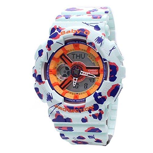 Casio Damas Baby-G Cuarzo: Batería JAPAN Reloj (Modelo de Asia) BA-110FL-3A