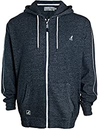 Kangol Mens Plus Size Hooded Jacket Zip Up Long Sleeve Hoodie Top Sizes XXL-5XL
