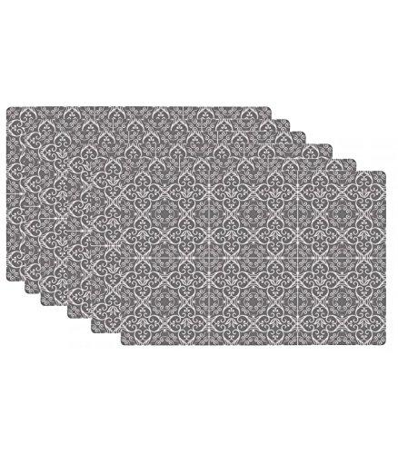 Set de Table Design Carreaux de Ciment en Vinyle - Set de 6