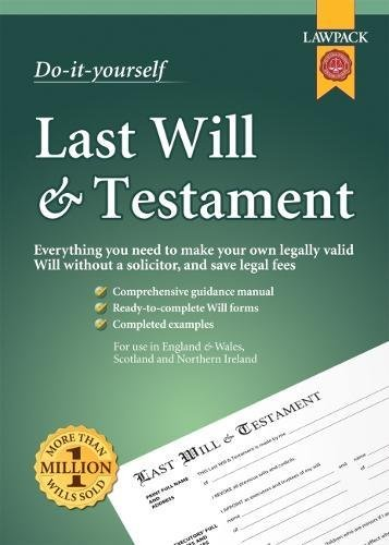 Last Will & Testament Kit (Do It Yourself Kit)