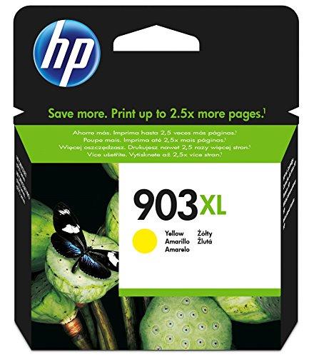 HP 903XL - Cartucho de tinta para impresoras (alto, compatible con OfficeJet Pro 6960 AiO/6970 AiO), amarillo