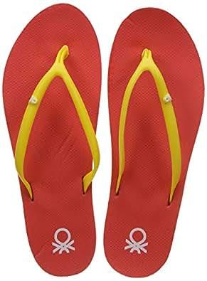 United Colors of Benetton Women's Peach Flip-Flops-3 UK/India (36 EU) (18A8CFFPL143I)