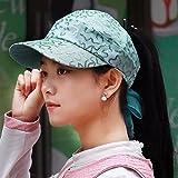 XINQING-MZ Il vuoto di top hat estate sottile femmina, traspirante visiera berretto da baseball, tappo di equitazione, blu