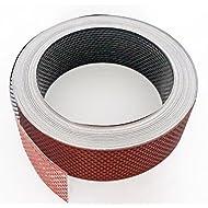 Fassadenprofile Lüftungsstreifen, Aluminium gerollt, 6000 cm x 100 mm, ziegelrot + scwarz schwarz | rot KAR