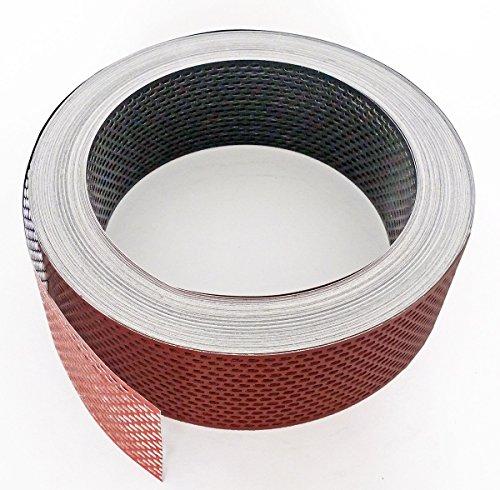 Fassadenprofile Lüftungsstreifen, Aluminium gerollt, 2 x 6000 cm x 50 mm, ziegelrot + schwarz schwarz | rot KAR