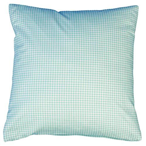 Hans-Textil-Shop Kissenbezug Karo 3x3 mm Druck (50x50 cm, Mint) -