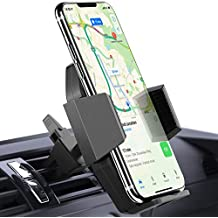 Beikell Soporte Móvil Coche, 360 Grados Rotación Soporte Móvil Teléfono Coche Magnético para Rejillas del