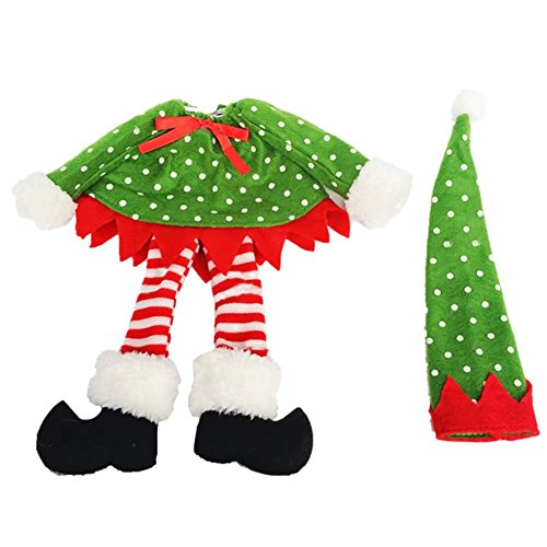 Bello Luna Polka Dot Weinflasche Abdeckung Taschen Weihnachtsdekoration Home Party (Party Supplies Belle)