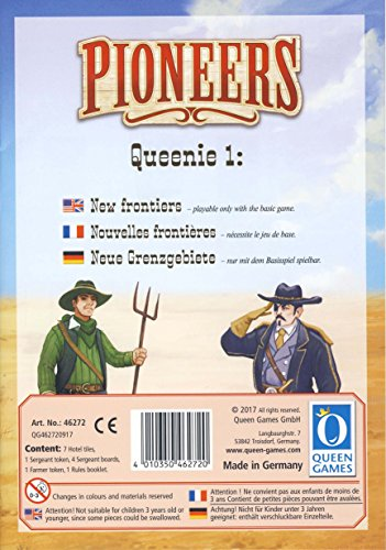 Queen Games 46272 - Pioneers Queenie 1. Neue Grenzgebiete