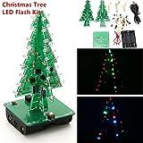 Zhankun LED-Flash-Schaltungsteile Weihnachtsbaum 3D-Baum LED-Bausatz Umweltfreundliche Materialien - Multi-Color Gemischt